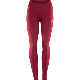 Odlo Suw Performance Warm Bottom Pants Women rumba red-mesa rose